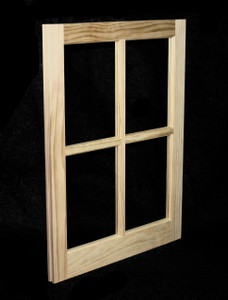 22 x 29 Natural Pine Barn Sash Window (BSW2229)