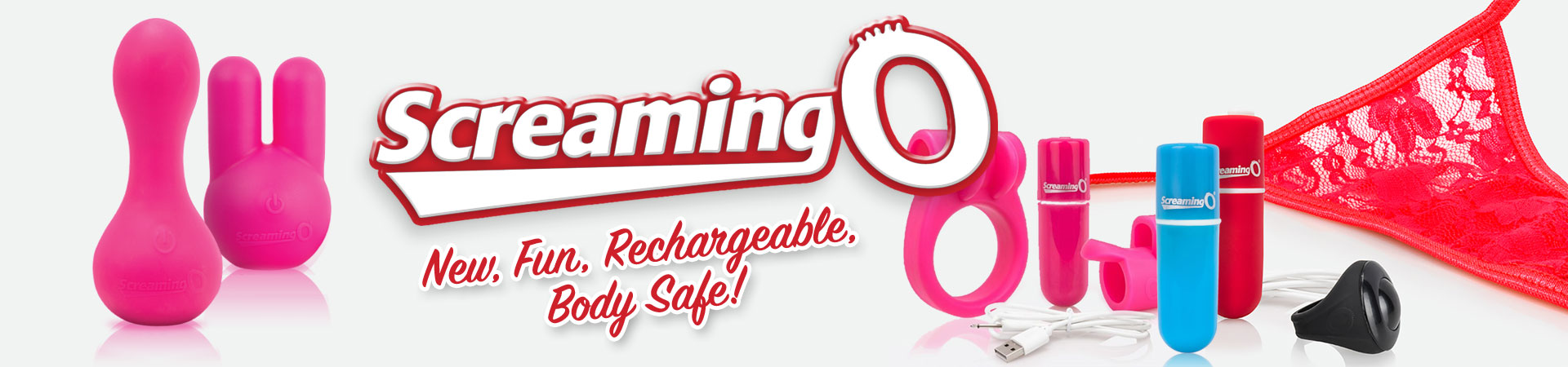 New, Fun, Rechargeable, Body Safe - Screaming O!
