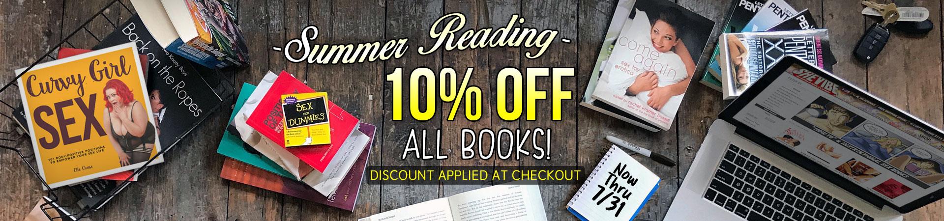 10% Off All Book - Now Thru 7/31