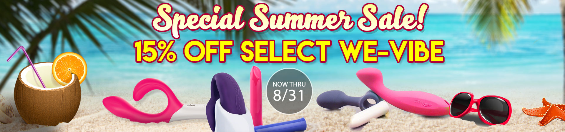 15% Off We-Vibe - Now Thru 7/13