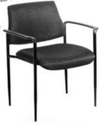 B9503 STACKABLE FABRIC GUEST CHAIR WITH ARMS