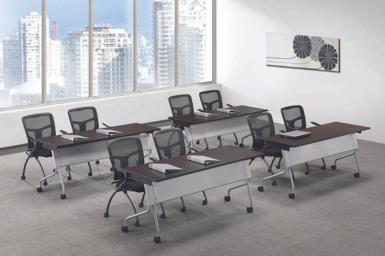 Performance flip top nesting training tables