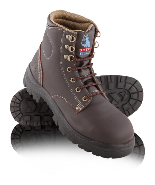 Steel Blue ARGYLE Nitrile Outsole Steel Cap Boots Whisky