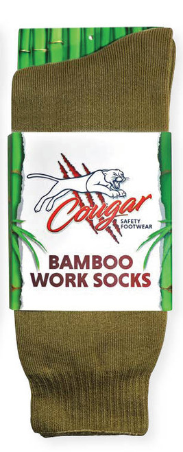 Cougar Mens Bamboo Socks 5 Pack Moss Green