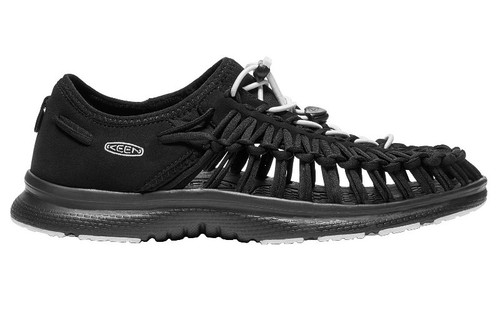 Keen Uneek 2 Mens Open Air Cord Sandals in Black and White