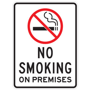 "No Smoking on Premises with Symbol Sign - 18"" x 24"""