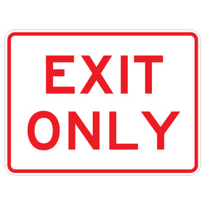 """Exit Only Sign - 18"""" x 24"""""""