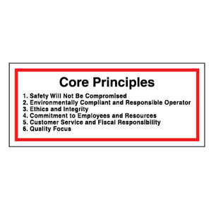 Core Principles - Hard Hat Decal
