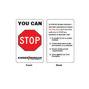 "You Can Stop Plastic Cards - 2.12"" x 3.37"""