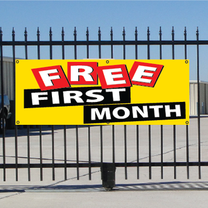 Free First Month Banner - Festive