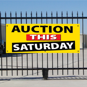 Auction This Saturday Banner - Festive