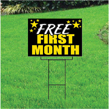 Free First Month Sign For Self Storage Celebration