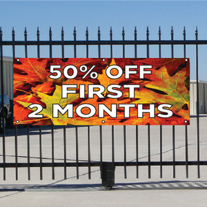 50 Percent Off First Two Months Banner - Fall
