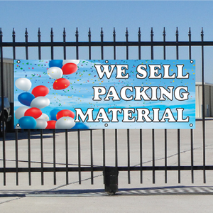 We Sell Packing Materials Banner - Balloons Sky