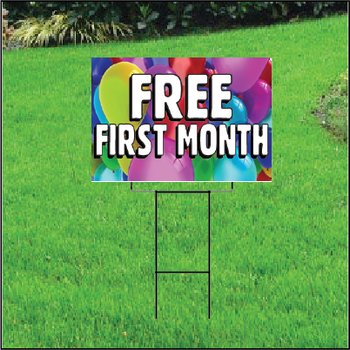 Free First Month Sign For Self Storage Balloons