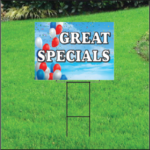 Great Specials Self Storage Sign - Balloon Sky