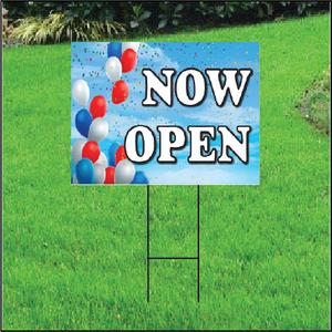 Now Open Self Storage Sign - Balloon Sky