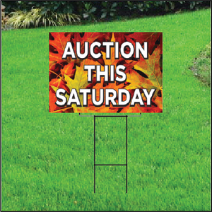 Auction This Saturday Self Storage Sign - Fall