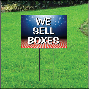 We Sell Boxes Self Storage Sign - Patriotic