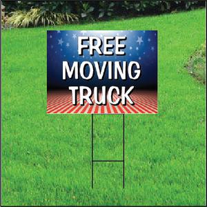 Free Moving Truck Self Storage Sign - Patriotic