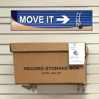 Move It Blue Self Storage Sign