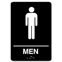 Men's ADA Restroom Sign