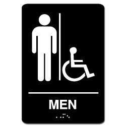 Men's Handicap ADA Restroom Sign