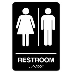 Men's/Women's ADA Restroom Sign