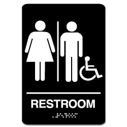 Men's/Women's Handicap ADA Restroom Sign