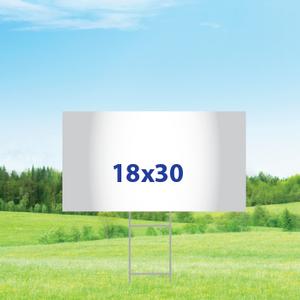 "18"" x 30"" Yard Signs - Single Sided"