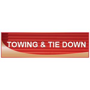 Towing and Tie Down Signs