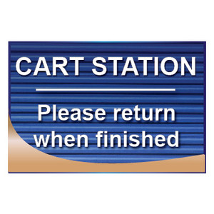Cart Station Sign