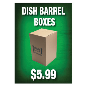 Dish Barrel Boxes Sign