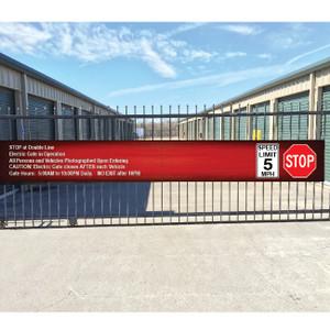 Gate Sign entrance
