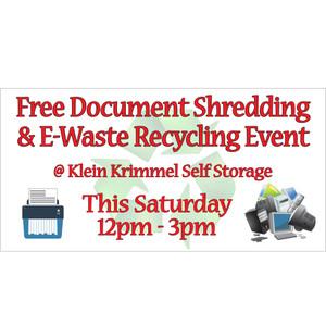 Free Document Shredding Banner