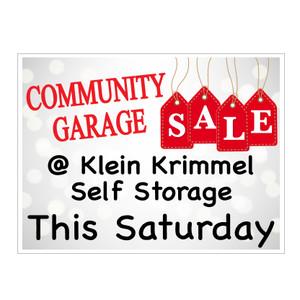Community Garage Sale Yard Signs