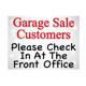Garage Sale Check in Yard Signs