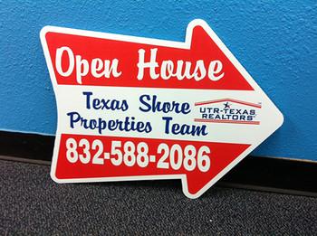 Open House Arrow Sign - Texas Shore