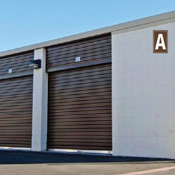 Self Storage Building Number Plaques