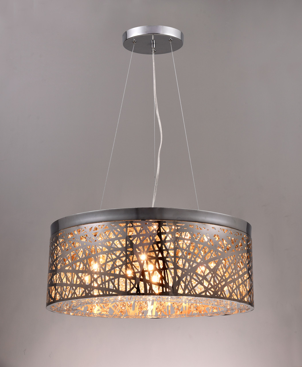nine lamp round pendant light fixture toronto vaughan home decor. Black Bedroom Furniture Sets. Home Design Ideas