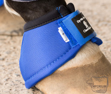 Classic Equine No Turn Bell Boot Blue