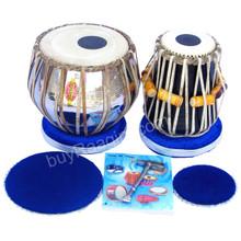 MUKTA DAS Student Tabla Drum Set, 2.5 KG Brass Bayan, Finest  Dayan, Hammer, Cushions - (BR-AIF)