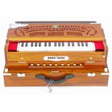 MONOJ K SARDAR Harmonium A440 Tuned, 3 Reeds, 9 Scale Changer, Teak Wood Folding, Concert - (BR-AHB)