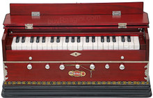 BINA NO. 9A Harmonium, 2 Reeds, 3 1/2 Octaves, 7 Stops, Coupler, Multifold Bellows, Rosewood Color - (BR-BCB)
