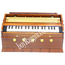 MONOJ K SARDAR Harmonium A440 Tuned, 2 Reeds 5 Stops, 37 Keys,Teak Wood,Student Model - (BR-AHA)
