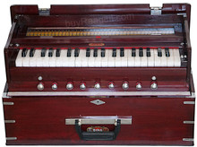 BINA NO. 23 B Deluxe Harmonium, Folding, 2 Reed, 3.5 Octaves With Coupler, Rosewood Color - (BR-AGH)