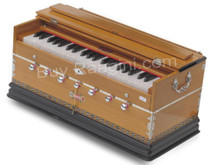 BINA NO. 9 Harmonium - 2 Reeds, 3 1/2 Octaves, 7 Stops, Coupler, Multifold Bellows,Teak Color - (BR-AGE)
