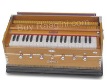 BINA NO. 9 Harmonium - 2 Reeds, 3.5 Octaves, 7 Stops, Coupler, Multifold Bellows,Teak Color - (BR-AGE)