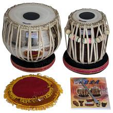 Brass Tabla Set 2.5 KG, Sheesham Dayan