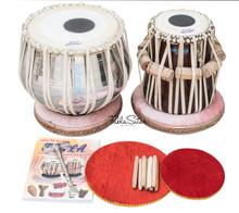 MAHARAJA Classic Tabla Set, 3 Kg Brass Bayan, Finest Dayan, Book, Hammer, Cushions - (BR-CG)